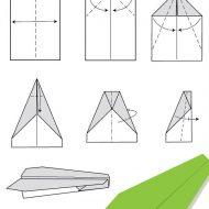 Avions en papier pliage