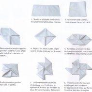Exemple de pliage de serviette