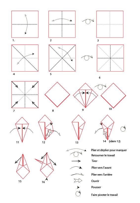modele pliage papier