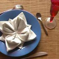 Origami pliage serviette de table