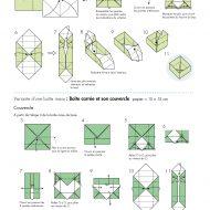 Pliage de boite en papier