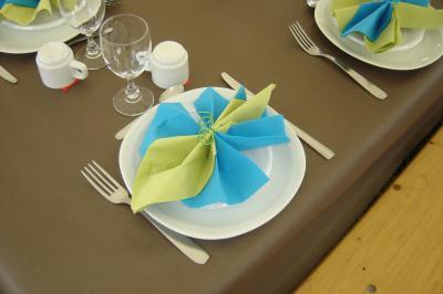 pliage de serviette 2 couleurs en papier - Pliage De Serviette En Papier Avec Deux Couleurs
