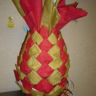 Pliage de serviette en forme d ananas