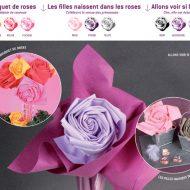 Pliage de serviette en papier en forme de rose