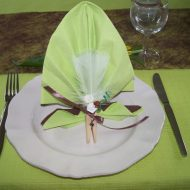 Pliage de serviette en papier pour communion
