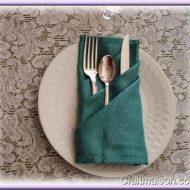 Pliage de serviette en papier pour couvert