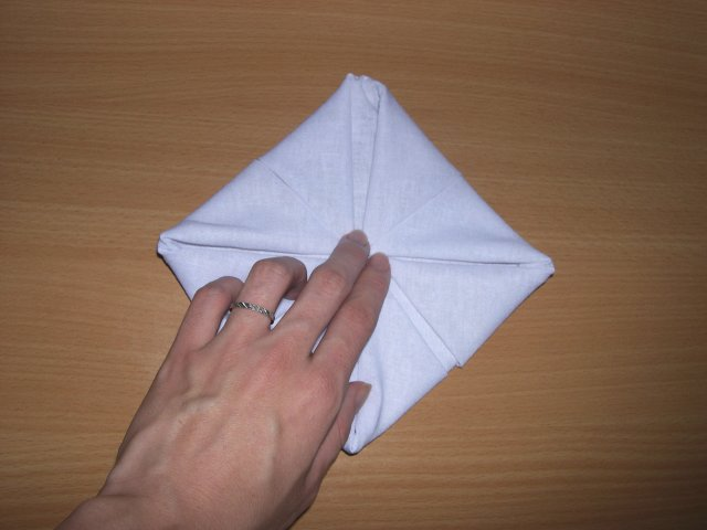 pliage de serviette nenuphare