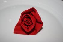 pliage de serviette papier mariage