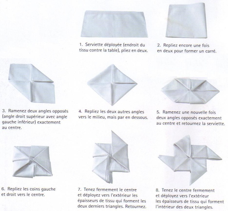 pliage de serviette rectangulaire