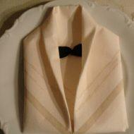 Pliage de serviettes en papier facile pour mariage