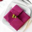 Pliage de serviettes mariage