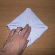 Pliage de serviettes nénuphar