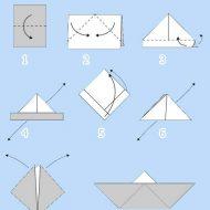 Pliage en papier bateau