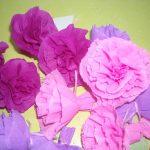 Pliage fleur papier crepon