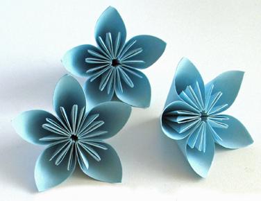 pliage fleurs en papier