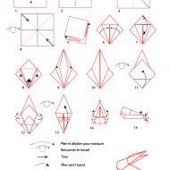 Pliage lapin en papier