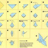 Pliage oiseau en papier
