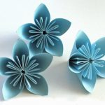 Pliage origami fleur