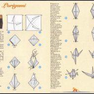 Pliage papier oiseau