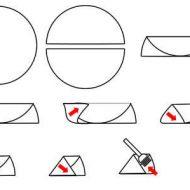 Pliage samoussa triangle