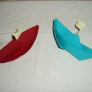 Pliage serviette bateau simple