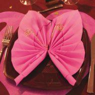 Pliage serviette de table mariage
