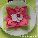 Pliage serviette fleur