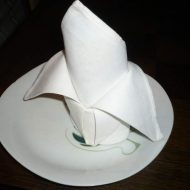 Pliage serviette lys