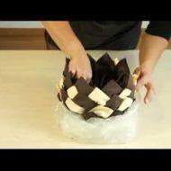 Pliage serviette papier ananas