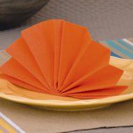 Pliage serviette papier eventail