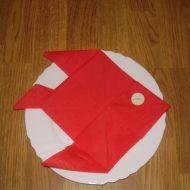 Pliage serviette papier poisson