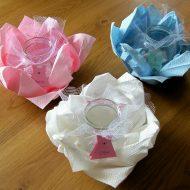 Pliage serviette papier pour bapteme