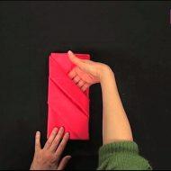 Pliage serviette portefeuille