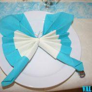 Pliage serviette pour communion