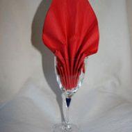 Pliage serviette pour verre