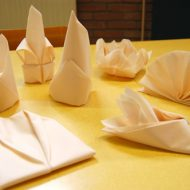 Pliage serviette restaurant