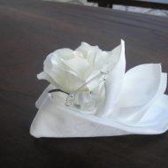 Pliage serviette tissu