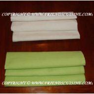 Pliage serviette vague