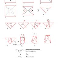 Pochette en papier pliage