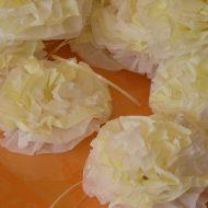 Fleur en papier serviette de table