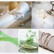 Idee serviette mariage