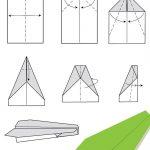 Modèle avion en papier pliage