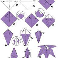 Origami fleur facile et rapide