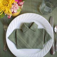 Pliage de serviette en papier pour anniversaire homme