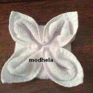 Pliage serviette de bain fleur