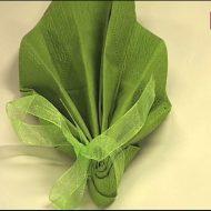 Pliage serviette papier avec ruban
