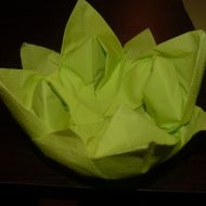 Fleur de lotus pliage serviette