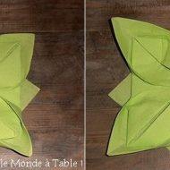 Méthode de pliage de serviette en papier