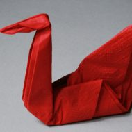 Modèle pliage de serviette en papier