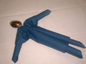 Pliage de serviette bonhomme